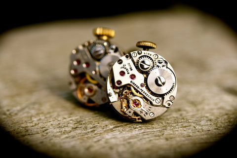 Vintage Girard Perregaux Watch Movement Cufflinks