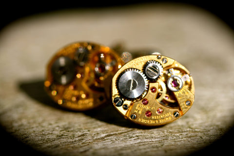 Vintage Baume et Mercier Watch Movement Cufflinks