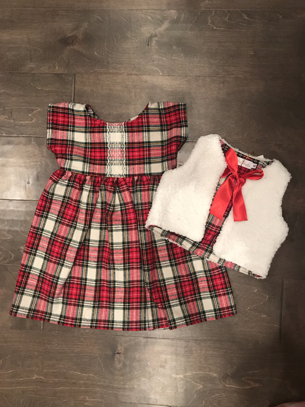 Red Plaid Claire Dress Kyndra Jade Signature Collection