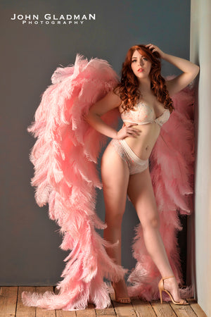 Abrielle Hot Pink Angel Wings