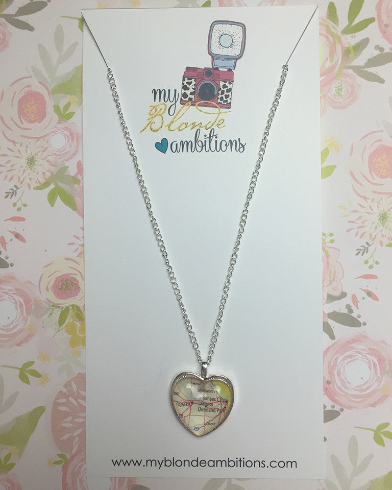 My Heart Belongs to Kansas City Necklace
