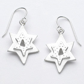 medium star of david earrings