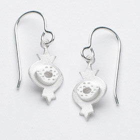 small pomegranate earrings