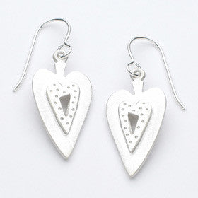 medium heart earrings