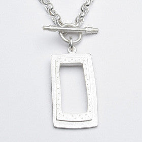 rectangle toggle necklace