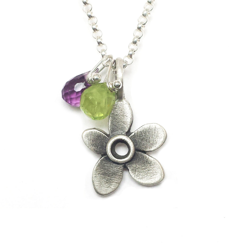 botanical violet with gemstones {starts at $62}