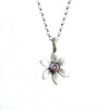 botanical forget-me-not necklace with set stone