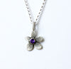 botanical violet necklace