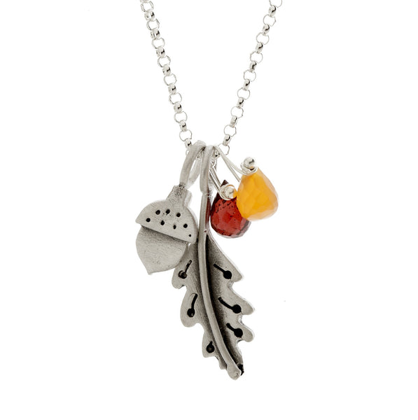 botanical oak leaf acorn combination necklace {starts at $76}