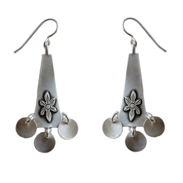 folklorica long drop earrings