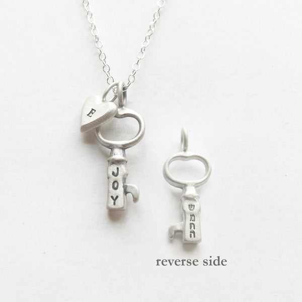tiny joy/hebrew key combination necklace {starts at $50}