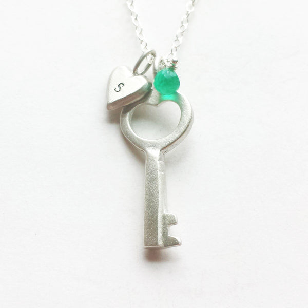 small simple key combination necklace {starts at $54}