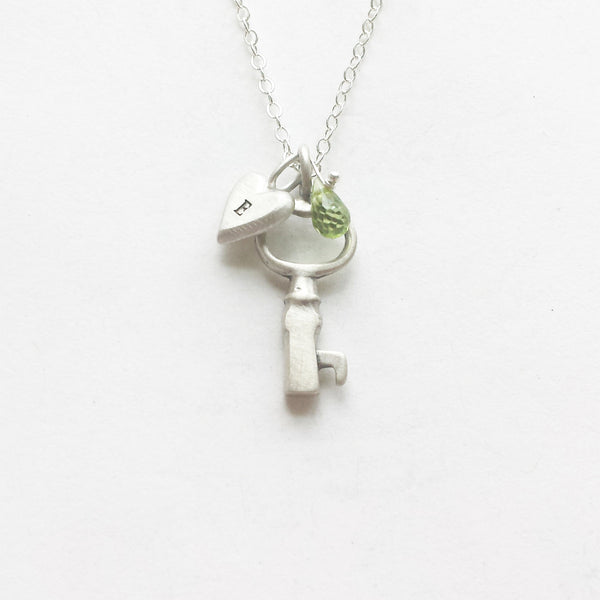 tiny simple key combination necklace {starts at $50}