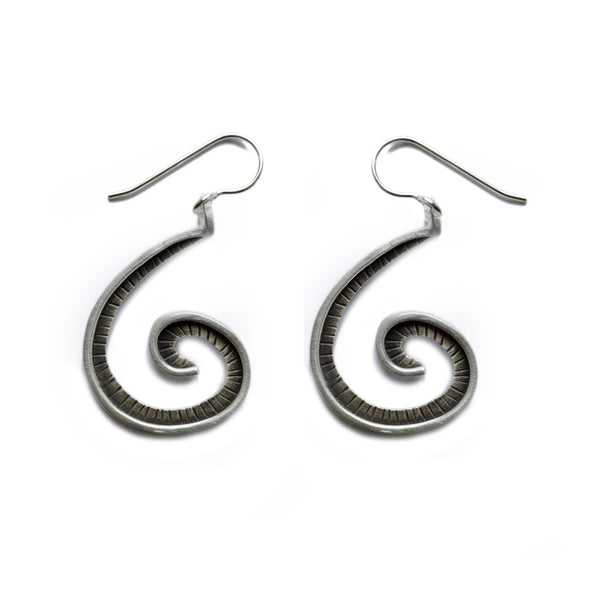 large fibonacci earrings