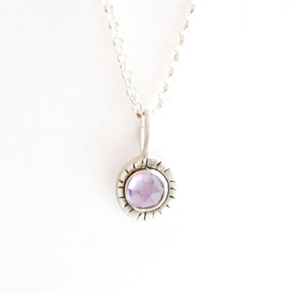 medium cabochon with lines necklace {starts at $58}