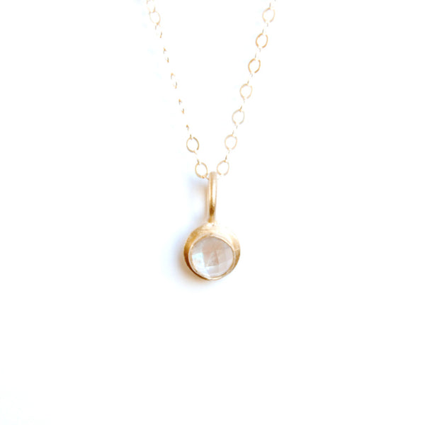 small gold cabochon necklace {starts at $150}