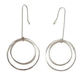 large and medium open circle earrings
