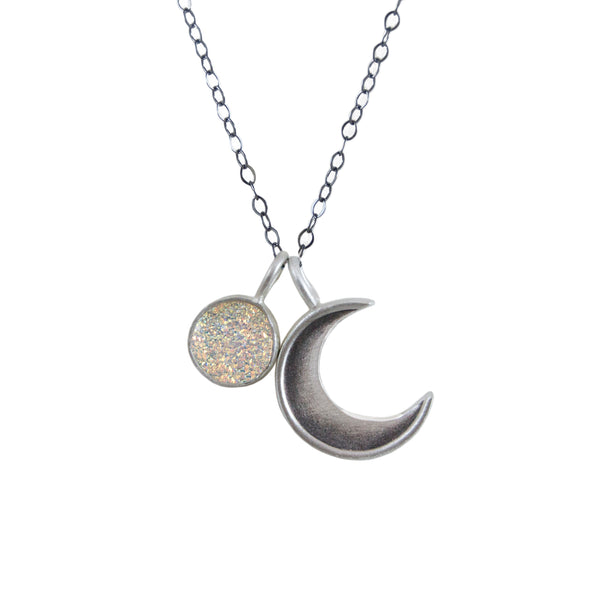 Small Crescent with Druzy