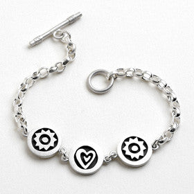 heart and sun vignette bracelet