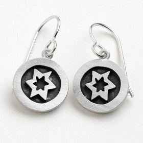 star of david vignette earrings