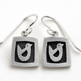 bird vignette earrings