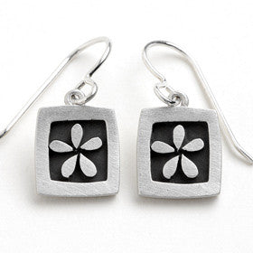 flower vignette earrings