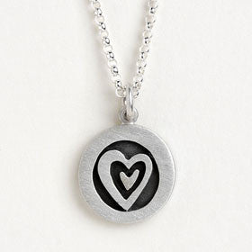 heart vignette necklace
