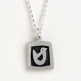 bird vignette necklace