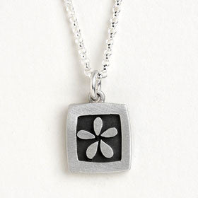 flower vignette necklace