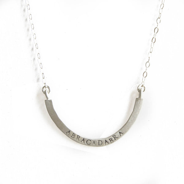 abracadabra cup half full necklace