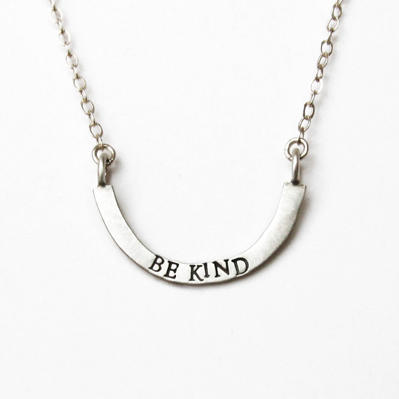 be kind cup half full single necklace