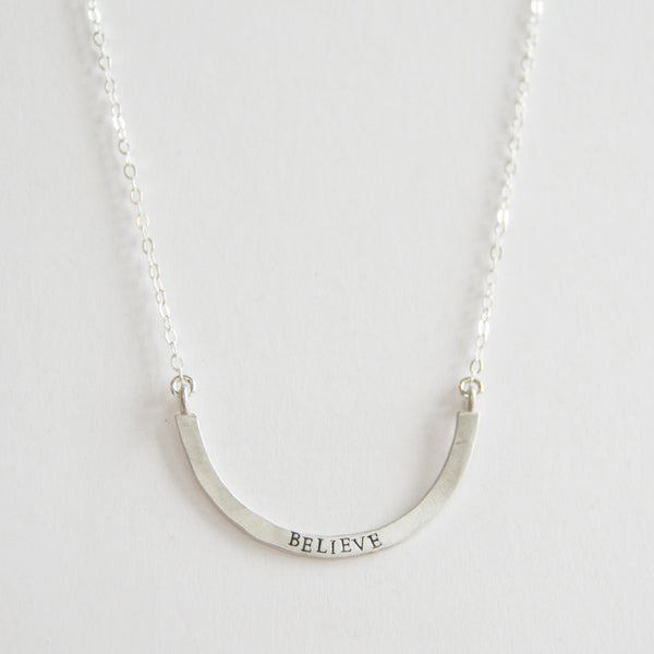 believe cup half full single necklace
