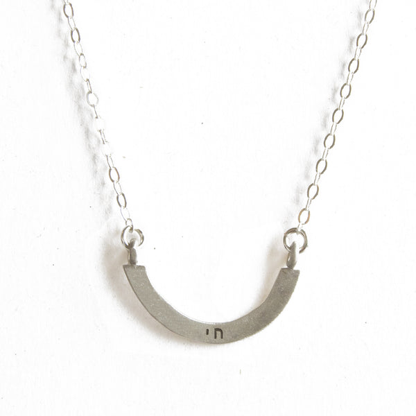 chai cup half full single necklace