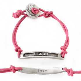 halom/dream transliterated word bracelet