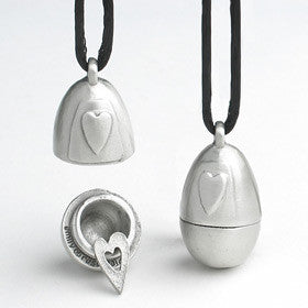 heart egg pendant