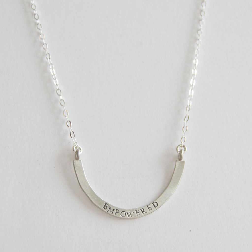 empowered cup half full single necklace