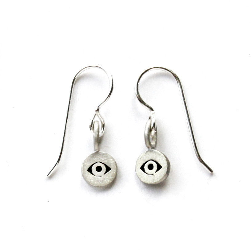 eye tiny dot earrings