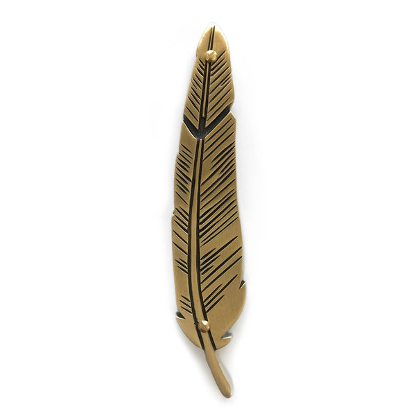 brass feather mezuzah