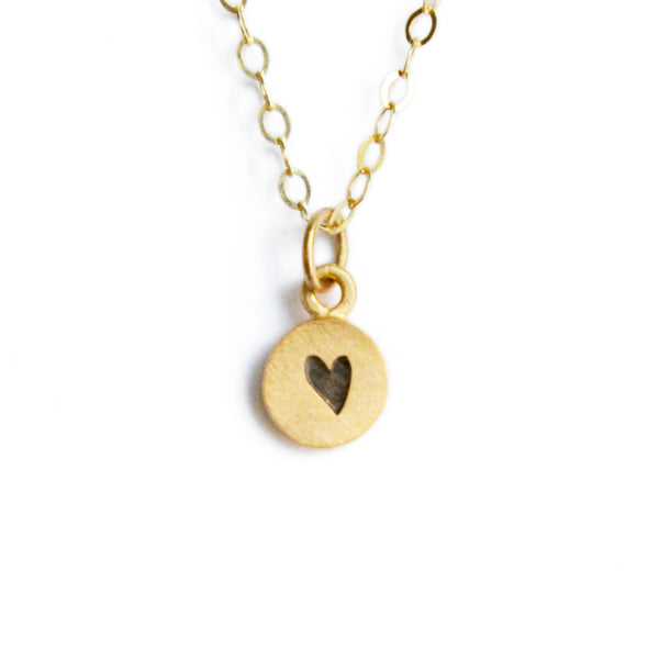 14k gold tiny dot necklace {starts at $130}