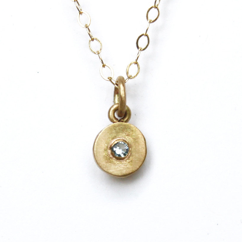 14k gold dot with faceted gem {starts at $150}
