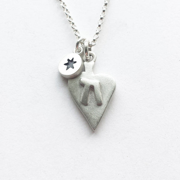 judaic heart necklaces