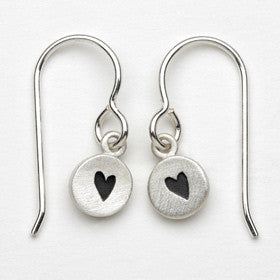 heart tiny dot earrings
