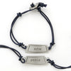 peace judaic word charm bracelet