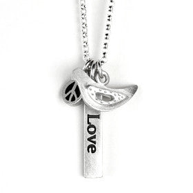 inspirational word bar and small pendant combination necklace {starts at $100}
