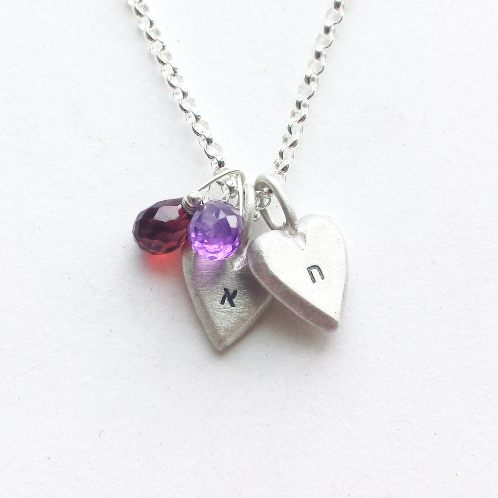 personalized hebrew tiny heart necklace {starts at $48}