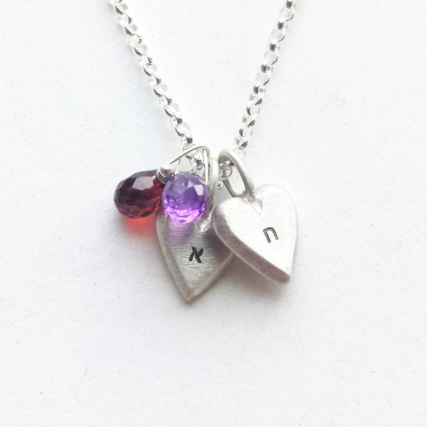 judaic tiny heart necklaces