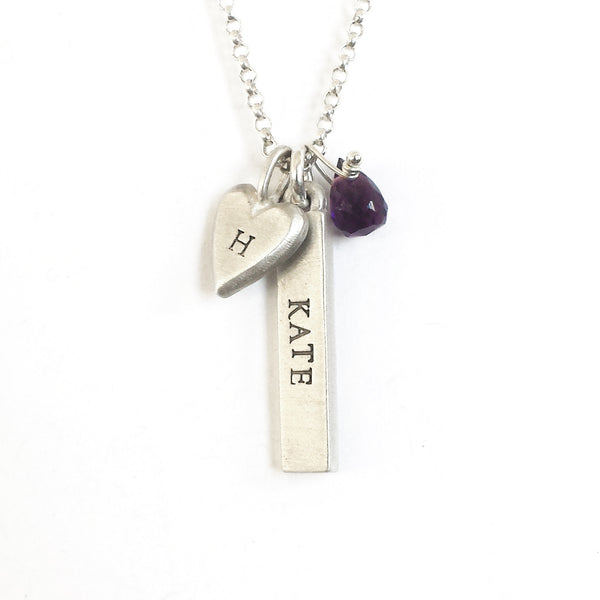 personalized bar necklaces