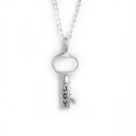 tiny joy key necklace