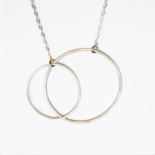 large double open circle necklace