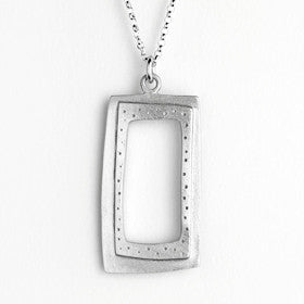 large rectangle necklace